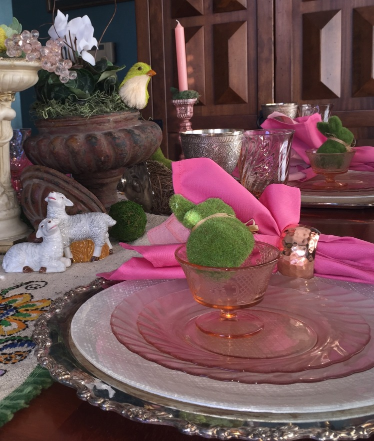 Spring Table - blush place setting up close